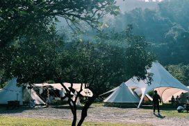 帳篷每週都會重新搭設,所以位置會變動